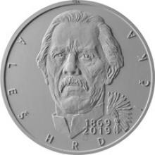 Stříbrná mince 200 Kč Aleš Hrdlička 150. výročí narození 2019 Proof