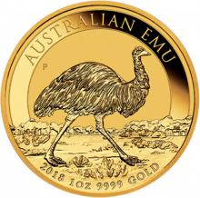 Zlatá investiční mince Emu 1 Oz