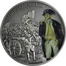 Stříbrná mince 1 Oz Bitvy, které změnily historii - Bitva u Yorktown 2017 Antique Standard