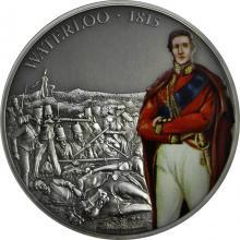 Strieborná minca 1 Oz Bitky, ktoré zmenili históriu - Bitka pri Waterloo 2017 Antique Stan