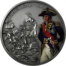 Stříbrná mince 1 Oz Bitvy, které změnily historii - Bitva u Trafalgar 2017 Antique Standar