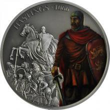 Stříbrná mince 1 Oz Bitvy, které změnily historii - Bitva u Hastings 2018 Antique Standard
