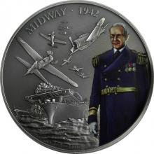 Stříbrná mince 1 Oz Bitvy, které změnily historii - Bitva u Midway 2018 Antique Standard