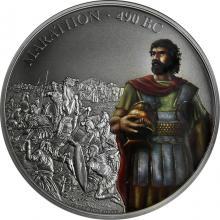 Stříbrná mince 1 Oz Bitvy, které změnily historii - Bitva u Marathon 2018 Antique Standard