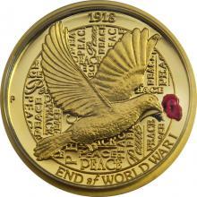 Zlatá mince 100. výročí konce I. světové války 1/4 Oz High Relief 2018 Proof