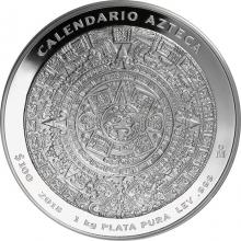 1kg Aztécky kalendár Strieborná minca 2018 Proof