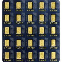 25 x 1g Pamp Fortuna Multigram25 Investičné zlaté tehličky