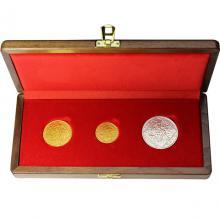 Sada jednej striebornej a dvoch zlatých medailí - Jsem ražen z českého kovu 1928