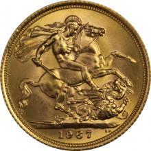 Zlatý Sovereign Královna Alžběta II. 1967