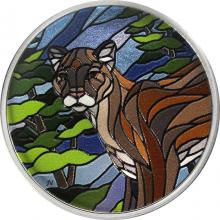 Stříbrná kolorovaná mince Puma 1 Oz Canadian Mosaics 2018 Proof