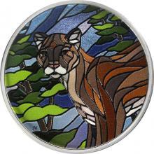 Strieborná kolorovaná minca Puma 1 Oz Canadian Mosaics 2018 Proof