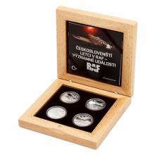 Sada čtyř stříbrných mincí Českoslovenští letci v RAF - Významné události 2018 Proof