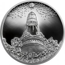 Strieborná minca Fantastický svet Julesa Verna - Mesačný dialo Kolumbiad 2018 Proof