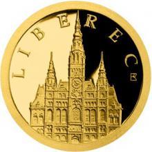 Zlatá mince Liberec - Liberecká radnice 2018 Proof
