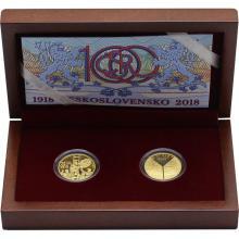 Sada dvoch zlatých medailí Vznik ČSR - Odveký sen sa stal skutkom 2018