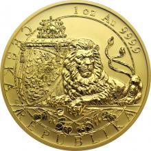 Zlatá uncová investiční mince Český lev 2018 reverse Proof