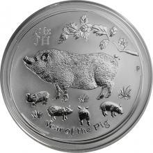 Strieborná investičná minca Year of the Pig Rok Prasaťa Lunárny 1 Oz 2019