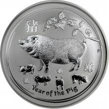 Strieborná investičná minca Year of the Pig Rok Prasaťa Lunárny 2 Oz 2019