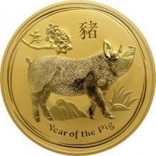 Zlatá investiční mince Year of the Pig Rok Vepře Lunární 1 Kg 2019