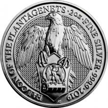 Stříbrná investiční mince The Queen's Beasts The Falcon 2 Oz 2019