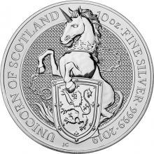 Stříbrná investiční mince The Queen's Beasts The Unicorn 10 Oz 2019