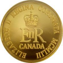 Zlatá mince 65. výročí korunovace Jejího Veličenstva Alžběty II. 1/4 Oz 2018 Proof