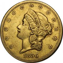 Zlatá minca American Double Eagle Liberty Head 1856
