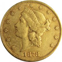 Zlatá minca American Double Eagle Liberty Head 1878