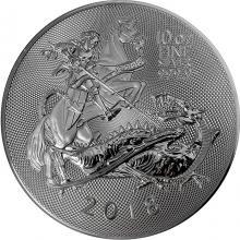 Stříbrná investiční mince Valiant 10 Oz 2018