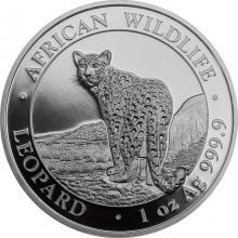 Stříbrná investiční mince Leopard Somálsko 1 Oz 2018