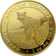 Zlatá investiční mince Leopard Somálsko 1 Oz 2018