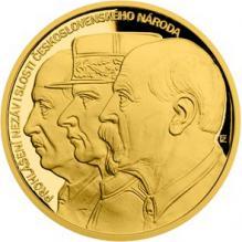 Zlatá půluncová medaile Prijatie Washingtonské deklarace 2018 Proof
