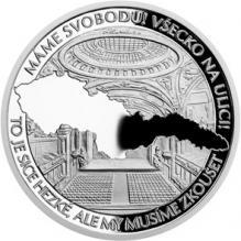 Strieborná medaila Príbehy našej histórie - Česká filharmónia 2018 Proof