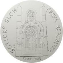 Platinová investiční medaile - Gotický sloh 2018 Standard