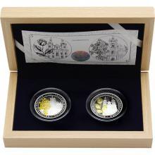 Sada dvou stříbrných mincí Zlatá růže od papeže 2018 Proof