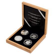 Sada čtyř stříbrných dvouuncových mincí Převratné osmičky našich dějin 2018 Proof