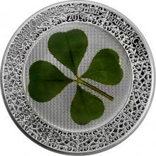 Stříbrná mince Čtyřlístek Unce štěstí 1 Oz 2019 Proof
