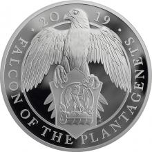 Stříbrná mince 5 Oz Falcon of the Plantagenets 2019 Proof
