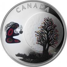 Strieborná minca Trinásť učenia od pramatky Mesiaca - Mesiac padajúcich listov 2018 Proof