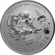 Stříbrná mince 100. výročí uzavření příměří 1/2 Oz 2018