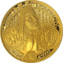 Zlatá mince 10000 Kč KAREL IV. Nové Město Pražské 1999 Proof