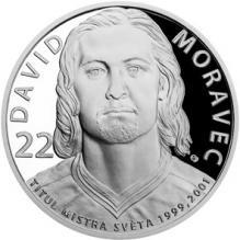 Stříbrná mince Legendy čs. hokeje - David Moravec 2018 Proof