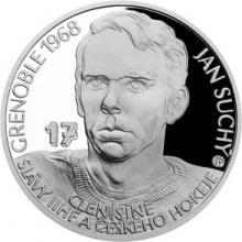 Stříbrná mince Legendy čs. hokeje - Jan Suchý 2018 Proof