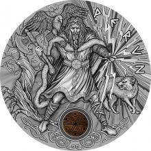 Stříbrná mince Slovanští bohové - Perun 2 Oz 2018 Antique Standard