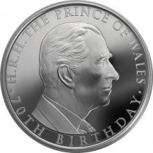 Stříbrná mince Princ Charles 70. narozeniny 2018 Proof