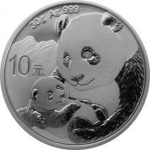 Stříbrná investiční mince Panda 30g 2019