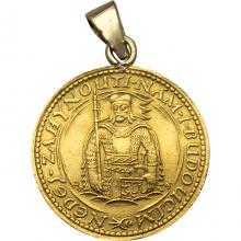 Zlatá minca Svätý Václav Jednodukát Československý 1923 Prívesok