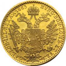 Zlatá minca Dukát Františka Jozefa I. 1863