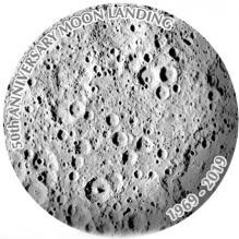 Stříbrná mince 50. výročí přistání na Měsíci 1 Oz 2019 Antique Standard