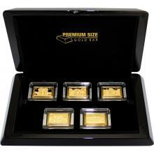 Premium Size Gold Bar Slon africký Collection Sada zlatých mincí 2018 Proof